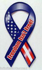 FREEDOM ISN'T FREE RIBBON MAGNET CAR AUTO REFRIGERATOR FRIDGE KITCHEN - LOT OF 6