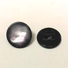10 x 14 mm Bottoni di resina nera con un effetto Aurora boreale sulla superficie