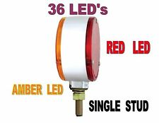 36 LED Double Face Turn Signal - Amber LED/Red LED  Semi Truck Fender