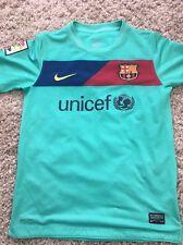 Nike Dri-Fit Camisa de fútbol Barcelona, Talla M (edad 10-12 años), no 10-Messi