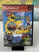 SHIPS SAME DAY **Case Only** The Simpsons: Hit & Run Greatest Hits PS2