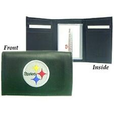 Pittsburgh Steelers Wallet Trifold Leather Embroidered