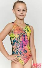 "RS Gymwear Premium Gymnastics Sleeveless Leotard ""Paint Splatter"" (RSG-415) SALE"