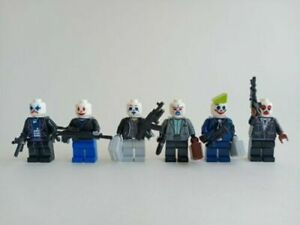 The Dark Knight The Joker Minifigures Thugs Bank Robbers DC Henchman Theif
