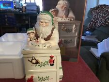 Lenox Santa's Workbench Cookie Jar