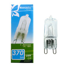 5 x KOSNIC G9 28w=40w DIMMABLE ENERGY SAVING bulbs clear 28 Watt Safety fused