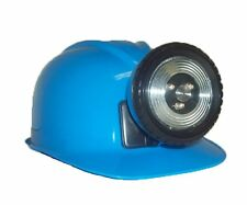 Childrens Lighted Construction Miner Hard Hat Helmet LED Light Bright BLUE