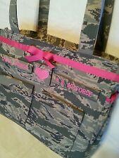 Handmade Air Force Diaper Bag unisex design  your choice colors words custom