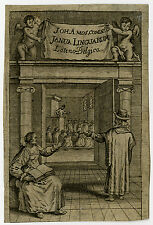 Antique Print-FRONTISPIECE-GENRE-LANGUAGE-READING-Comenius-ca. 1652