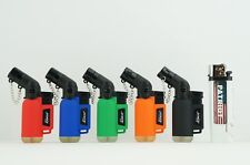 6 Items - 5x Linse Refillable 45 Degree Torch With 1x Patriot Disposable Lighter