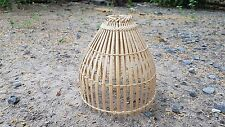 Handmade Chicken Coop Cage Ceiling Lamp Art Bamboo Craft Vintage Decor