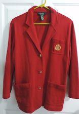Lauren Ralph Lauren Petite-Rot Cotton Crest Blazer-wie mit Jacke-Größe PM