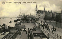 Antwerpen Anvers Belgique AK ~1910 Débarcadère Musée du Steen Museum Promenoir