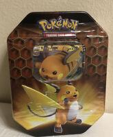 Pokemon Cards TCG: Hidden Fates Raichu GX Tin BRAND NEW & FACTORY SEALED!