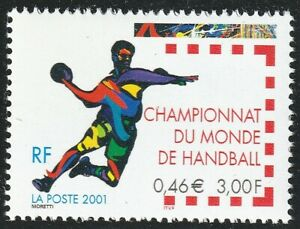 France 2001 Sport Neuf ** Yvert 3367 Championnat mondial handball Nantes