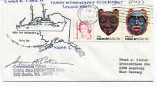 1985 Noaa Ship Discoverer P102 Seattle Kodiak I Shelikof Polar Cover SIGNED