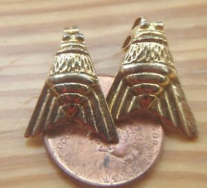 Vermeil Sterling Fly Insect Post Earrings Hallmarked London 1994 Signed VN