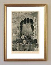 Kaiser Franz Josef in St. Petersburg Theater 1897 Original K&K 42 im Goldrahmen