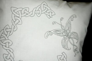 Cushion Cover Pillow Celtic Butterfly Embroidery printed embroider CSO124