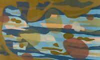 Vintage Abstract Serigraph Screenprint Art Mid Century Modern Signed Malovich