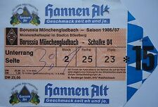 TICKET 1986/87 Bor. Mönchengladbach - FC Schalke 04