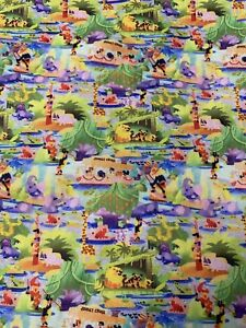 Disney Parks Jungle Cruise Adventure Boat Disney World Fabric Fat Quarter
