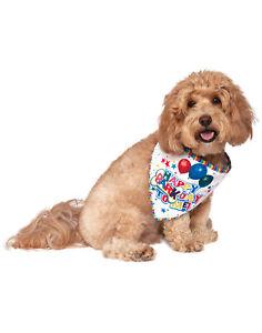 Barkday Pet God Puppy Double Sided Happy Birthday Bandana Collar-S-M