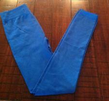NEW Versace 19v69 Womens Fleece Lined Leggings Pants L XL Blue Stretch Full