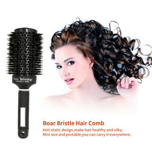 Ceramic Hair Round Brush Heat Resistant Boar Bristle Hair Styling Curling CoLD