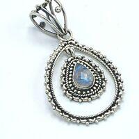 Sterling Silver Ethiopian Opal Necklace Pendant