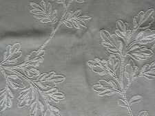 COLEFAX & FOWLER beautiful embroidered leaf designer fabric 0.8 metres SEA GREEN