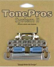Tone Pros Nashville style Bridge/Tailpiece Set LPNM04-NKL NIckel Finish