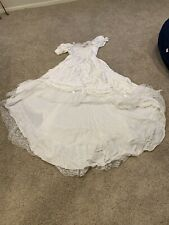 Vintage Wedding Dress White Lace Beads for craft Material