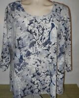 Croft & Barrow Womens 3/4 Sleeve blouse top shirt  XL  H-901  See Measurements