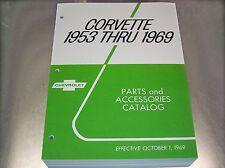 53 - 69 CORVETTE MASTER PARTS CATALOG + Accessories + AC-Delco