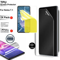 2XTPU Scratch Resistance Protect Full Cover Screen Protector Film For Nokia 7.1