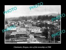 OLD LARGE HISTORIC PHOTO OF CLATSKANIE OREGON, VIEW OF THE TOWNSHIP c1908