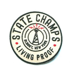 State Champs Living Proof Patch Punk Rock Music Festival Sew or Iron On Badge