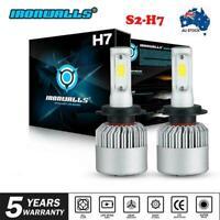CREE 2x H7 LED Headlights Low Beam 6500K 80W 9600LM HEAD LIGHT Bulb Upgrade Kit