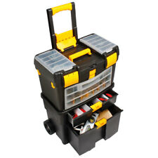 Deep DIY Toolbox Space Saving Handy Organiser with 4 DrawerSections On Wheels