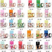 10M DIY Self Adhesive Cartoon Washi Masking Tape Sticker Craft Decorative + BOX