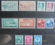 ALLIED OCCUPATION 1949 Wurttemberg, Complete Issues 11 m/h