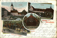 Ehrenhain Thüringen 1906 Kirche Schloss gelaufene color Litho-AK n/ Wintersdorf