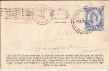 """Tonga-  """"TIN CAN MAIL COVER""""- 1935  NICE (PAGO, PAGO, SAMOA)"""