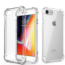 For Apple iPhone SE 2nd 2020 7 8 Plus Slim Shockproof Back Clear Case Cover