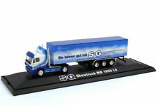 1:87 Mercedes-Benz Sk Box Semitrailer Truck Showtruck You Color Good With S&G -