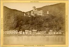 J.H. Schönscheidt, Cöln a. Rhein, Schloss Stolzenfels  Vintage albumen print.