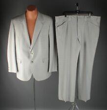 Vtg Men's 1970s Circle S Western Leisure Suit Jacket Xl Pants 43x32 70s #7762