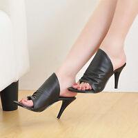 Chic Womens Stiletto Fashion High Heel Sandals Pump Shoes Slipper Comfort Hot