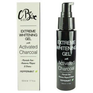 Extreme Teeth Whitening Gel with Activated Charcoal Toothpaste 50ml